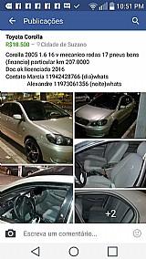 Corolla 2005 1.6 16v cambio mecanico roda aro 17 doc ok.207000km. r$18.000
