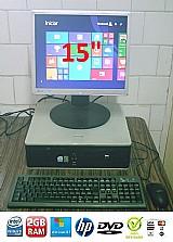 Computador hp dual core 3.0 ghz 2 gb ram dvd windows 8 entrego gde sp e osasco