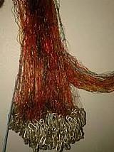 Tarrafa fio40 malha40 com 20 metros vermelha