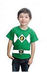 Camiseta infantil power rangers customizada algodao