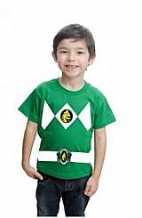 Camiseta infantil power rangers customizada algodao