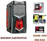 Desktop - pc 8gb ddr3 1600mhz,   amd sempron 2650 1.45ghz,   500gb hdd,   120ssd