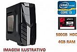 Desktop - pc 4gb ddr3 1333,  corel i3,  500gb hdd,  120 ssd