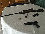 Carabina rossi 4, 5 pressao com luneta e pistola daysi 2001,  4, 5 pressao