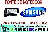 Fonte carregador notebook samsung rv420 salvador ba