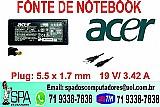 Fonte carregador notebook acer travelmate series