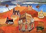 Conjunto de igrejas no morro,  obra de dorival caymmi