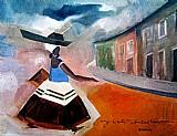 Baiana com tabuleiro,  comercializando a domicilio,  obra de dorival caymmi