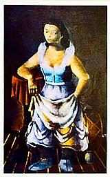 Moca do circo posando antes do espetaculo,   quadro do artista di cavalcanti 1936