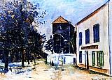 Le moulin de sannois,  quadro do artista utrillo