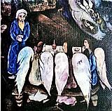 Abrahao e os tres anjos,  quadro do artista chagall