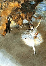 Dancarina,   quadro do artista edgar degas