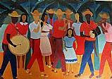 Festa popular,  quadro da artista djanira