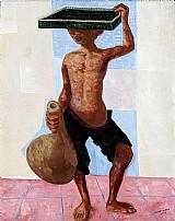 Quadro menino com tabuleiro,  quadro do artista portinari