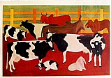 Bois no curral,  quadro da artista djanira