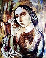 Retrato de uma jovem,  quadro de segal