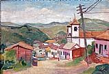 Vista da cidade de sabara,  quadro de guignard