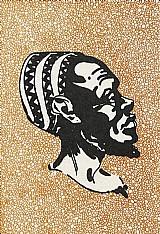 Arte angolana,  pintura de 1972,  cartao postal internacional