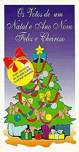 Os votos de um natal cheiroso,  árvore de natal aromatizada