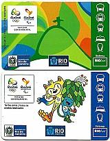 Cards transportes,  jogos olimpicos e paralimpiadas rio 2016