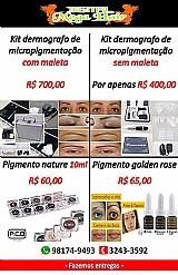 Kit dermografo de micropigmentacao (com maleta,   e sem maleta)