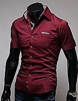 Camisa masculina casual em algodao