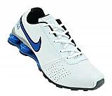 Tenis nike - tenis nike shox classic branco e azul