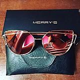 Óculos merrys - cat eyes - uv 400 lentes anti reflectivas