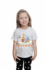 Camiseta aniversario infantil malha algodao
