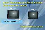 Dois televisores usados
