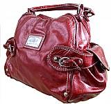 Bolsa de mao vermelha 100% couro