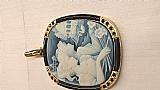 Pendente em ouro cristian dior com ônix safira madeperola
