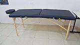 Maca de massagem portatil plastificada c/ altura regulavel p/ fisioterapia e estetica - sirius