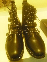 Botas de motociclistas - 4 fivelas,  ankle boots. tam 36