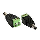 Adaptador conector borne macho p4 x plug cat 5