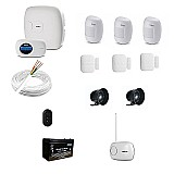 Kit dvr intelbras hdcvi 1008 com 4 cameras 1mp hd