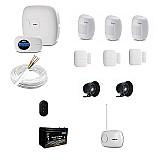 Kit alarme intelbras sem fio 4 sensores residencial e comercial