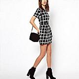 Vestido moda verão xadrez