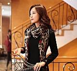 Lenços europeus moda leopardo