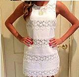 Vestido branco casual
