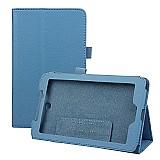 Capa de couro magnetica para acer iconia tab 7.0 a1-713-azul