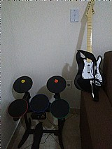 Bateria   guitarra rock band para xbox 360