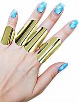 Conjunto formado por 4 aneis ajustaveis , folheados a ouro