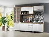 Cozinha compacta multimoveis toscana com balcao - 11 portas 3 gavetas