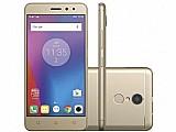Smartphone lenovo vibe k6 32gb dourado dual chip - 4g cam. 13mp   selfie 8mp tela 5