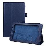 Capa de couro magnetica tablet acer iconia a1-713-azul escuro