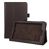 Capa de couro magnetica tablet acer iconia a1-713-marrom