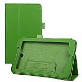 Capa de couro magnetica tablet acer iconia a1-713-verde