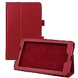 Capa de couro magnetica tablet acer iconia a1-713-vermelha