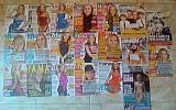 Lote de capas de revistas com angélica
